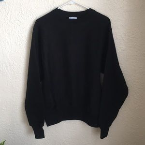 Champion Reverse Weave Black Sweatshirt Size Small